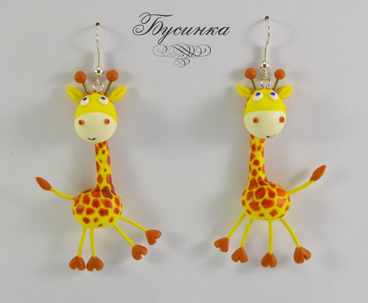 Поделки из глины жираф